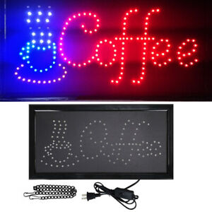 Animated Motion Running LED Business Coffee Sign +On/Off Switch / Bright Light