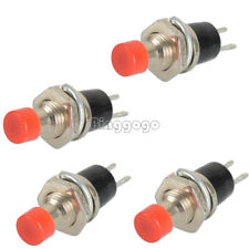 5 PCS Red Lockless ON/OFF Push button Switch Press the reset switch PBS-110 DE