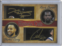 Stephen Curry Kevin Durant Historic Cuts Facsimile Autograph Card