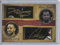 Stephen Curry Kevin Durant Historic Cuts Facsimile Autograph Card