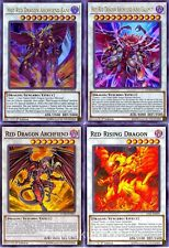 Yugioh Hot Red Dragon Archfiend King Calamity + Bane + Red Rising Dragon Lot