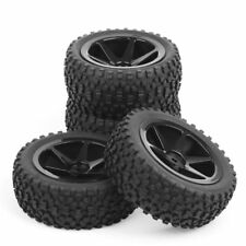 4PCS Off-Road Rubber Tyre Front Rear Tires Rims Set For RC 1:10 Buggy Car 27011