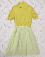 Carven Citrus Yellow A-Line dress Lightweight Summer Dress