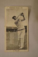 1953 - Vintage - Morning Foods Ltd. - Cricket Card - K. Miller - New South Wales
