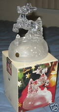 "6"" Lead Crystal Reindeer Figurine By Cristal D'Arques"
