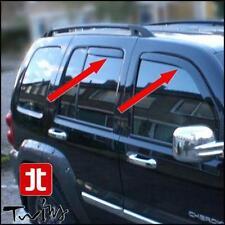 Set 4 Deflettori Aria Antiturbo Oscurati Jeep Liberty Cherokee KJ 2002-2007