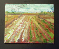Listed Artist = C PETERSON = ORIGINAL OIL PAINTING = Fields in Santa Paula Calif