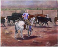"""All American Cowboy"" signed print #5"