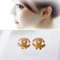 Vintage Women Fashion Rose Rhinestone Stud Flower Earrings Crystal Jewelry Gift