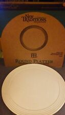 "NEW IN BOX Pampered Chef New Traditions Stoneware Round 13"" Platter"