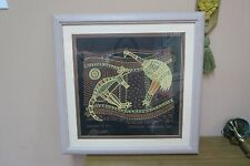 "Aboriginal Canvas Art Print Churinga Australia "" Kangaroo & Emu "" Framed"