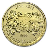 2012 Canada 1/4 oz Gold $10 War of 1812 BU - SKU #78440