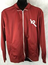 ROCAWEAR Men's 2XL Jacket Red Embroidered Logo Long Sleeved Full Zip Athletic