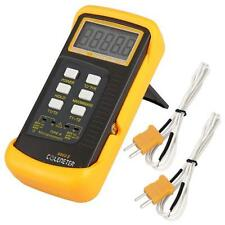 Digital Thermometer 2 K Type Temperature Thermocouple Sensor Probe