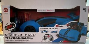 Sharper Image Remote Control Transforming Missile Launcher - Blue - Brand New!