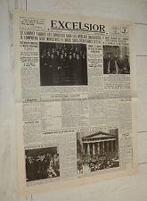 FAC-SIMILE A LA UNE JOURNAL EXCELSIOR 03/11 1929 KRACH BOURSIER JEUDI NOIR