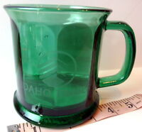 Idaho Timber Green Glass Coffee Mug