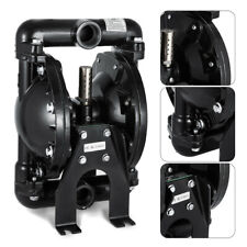 New Listingair Operated Double Diaphragm Pump 35gpm 1 Inlet Amp Outlet Aluminum Pump Black