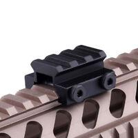 "1/2 ""3 Slot Low Weaver/Picatinny Rail Riser For Elevating Scope Sights 20mm Base"