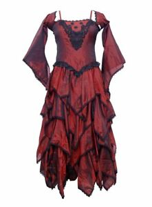 Dark Star Dress Woven Maroon Polyester One Size