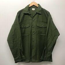 OG107 Fatigue Shirt, Size 16 1/2 x 36 1960's-1970's US Army K-21