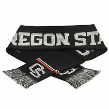 Oregon State Beavers Scarf Knit Winter Neck New Ncaa Metallic Thread Silver Logo