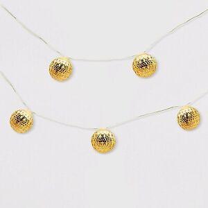 Outdoor LED Fairy Lights Mini Gold Orbs 25ct