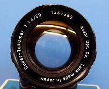 RARE! 8 Element Super-Takumar 1:1.4 50mm M42 Mount Lens Excellent