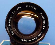 ! Raro! 8 elemento Super-takumar 1:1 .4 50mm M42 Lente de montaje Excelente