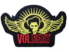 VOLBEAT Wings Heavy Metal Embroidered Iron On Jacket Badge Patch 3.9""