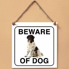 Drentse Patrijshond Spaniel 0 Beware of dog ceramic tile sign piastrella cane
