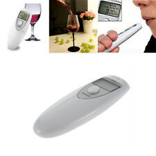 Breath Alcohol Tester LCD Display Highly Sensitive Detector Breathalyzer White
