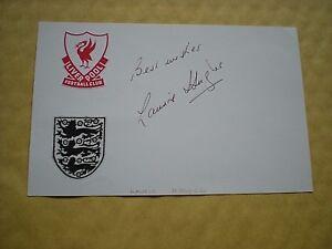 The ORIGINAL Signature Of LAURIE HUGHES  Ex- England & Liverpool Footballer.