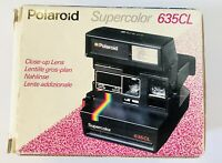 Polaroid supercolor 635CL film camera with 3 packets film boxed