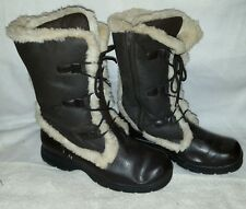 Women's vintage mukluk warm winter snow fur boots size 8