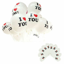 """12"""" Latex Quality Party Birthday Wedding Balloons I LOVE YOU engagement ML"""