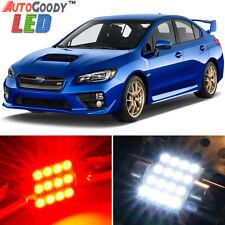 8 x Premium Red LED Lights Interior Package Kit for Subaru WRX STi 2004-2017