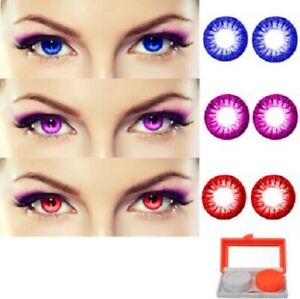 Blue, Violet, Red Monthly Color eye disposable eye makeup beauty partywear