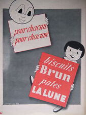 PUBLICITÉ DE PRESSE 1953 BISCUITS BRUN PATES LA LUNE - ADVERTISING