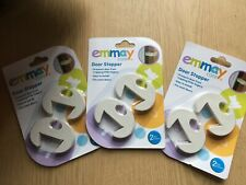 Job lot of 3 packs of 2 Emmay Care Door Stoppers for Baby Safety
