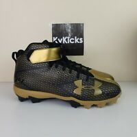 Under Armour B.H. 34 Black/Gold Mens's Baseball Cleats Size 11.5 [1279253-007]