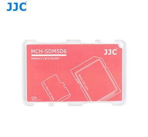 Memory Card Case Memory Cards Protective Box For 2 SD & 4 Micro SD Cards IN Red