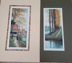 Color Engravings Unknown artist Lot of 2
