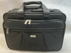 US LUGGAGE New York Black Briefcase Laptop Retractable Shoulder Bag