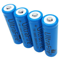 4X 18650 3800mAh 3.7V Li-ion Rechargeable Battery for Flashlight BRC Torch Lamp