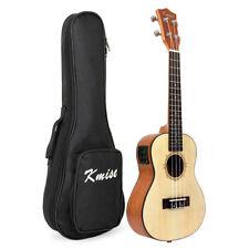 24 inch Laminated Spruce Electric Acoustic Concert Hawaii Ukulele Guitar W/Bag
