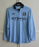 Manchester City 2012/2013 Home Football Shirt Jersey Longsleeve LS Umbro Sz M/40