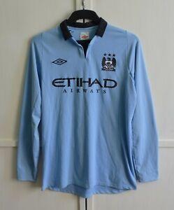 Manchester City 2012/2013 Home Football Shirt Jersey Longsleeve LS Umbro Sz M/40