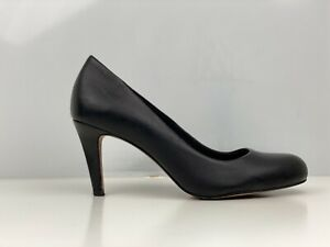Clarks Carlita Cove Womens Black Leather Court Shoe UK Size 4.5
