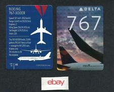 DELTA AIRLINES BOEING 767-300 ER PILOT CARD #44 COLLECTOR CARD 2016